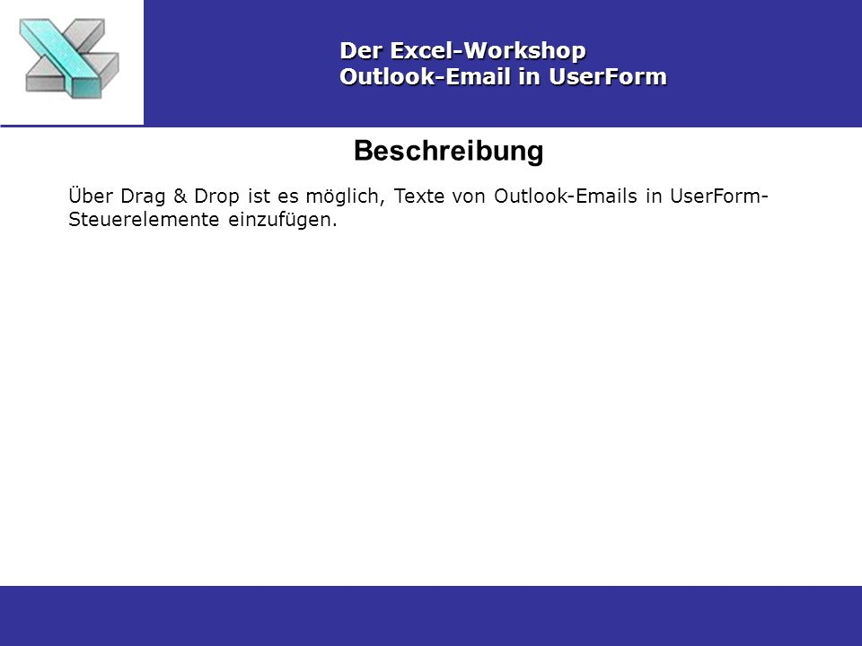 Beschreibung Der Excel-Workshop Outlook-Email in UserForm