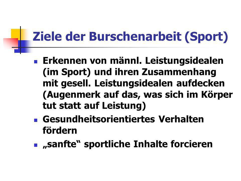 Ziele der Burschenarbeit (Sport)