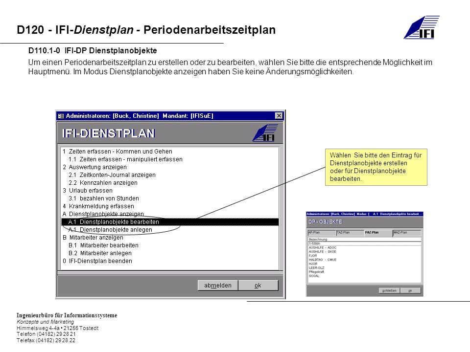 D110.1-0 IFI-DP Dienstplanobjekte