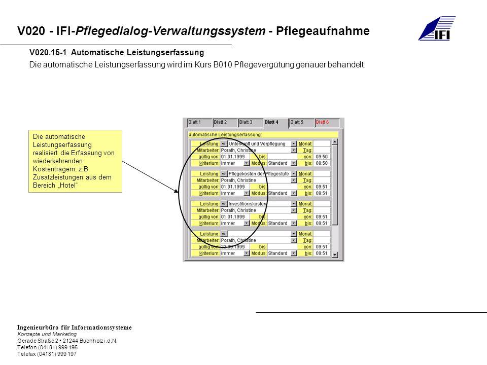 V020.15-1 Automatische Leistungserfassung