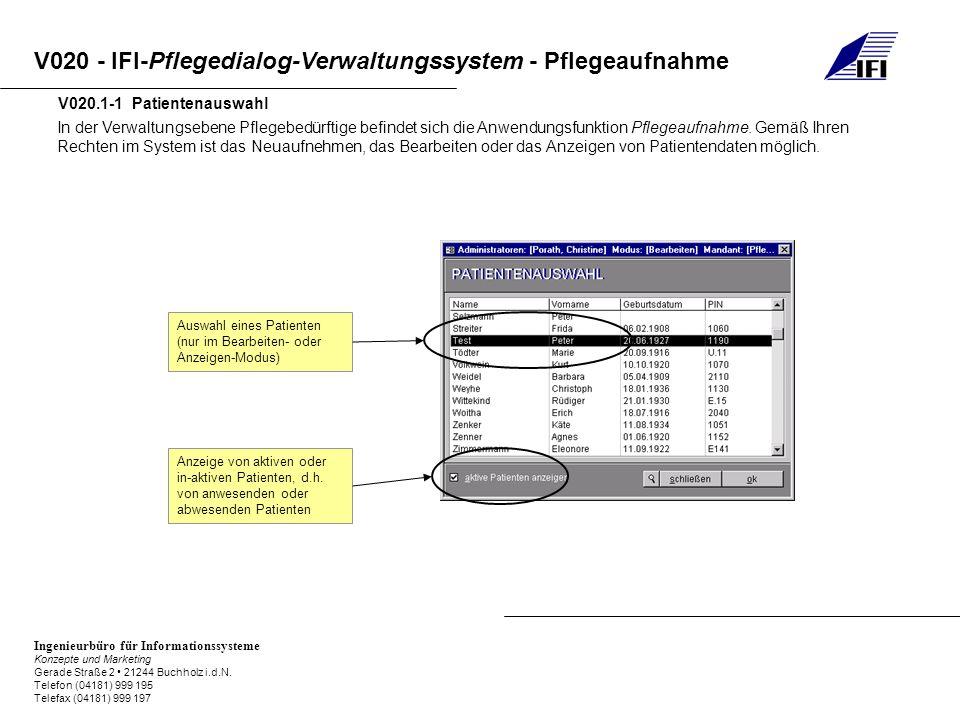 V020.1-1 Patientenauswahl
