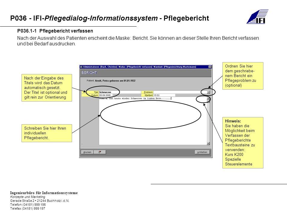 P036.1-1 Pflegebericht verfassen