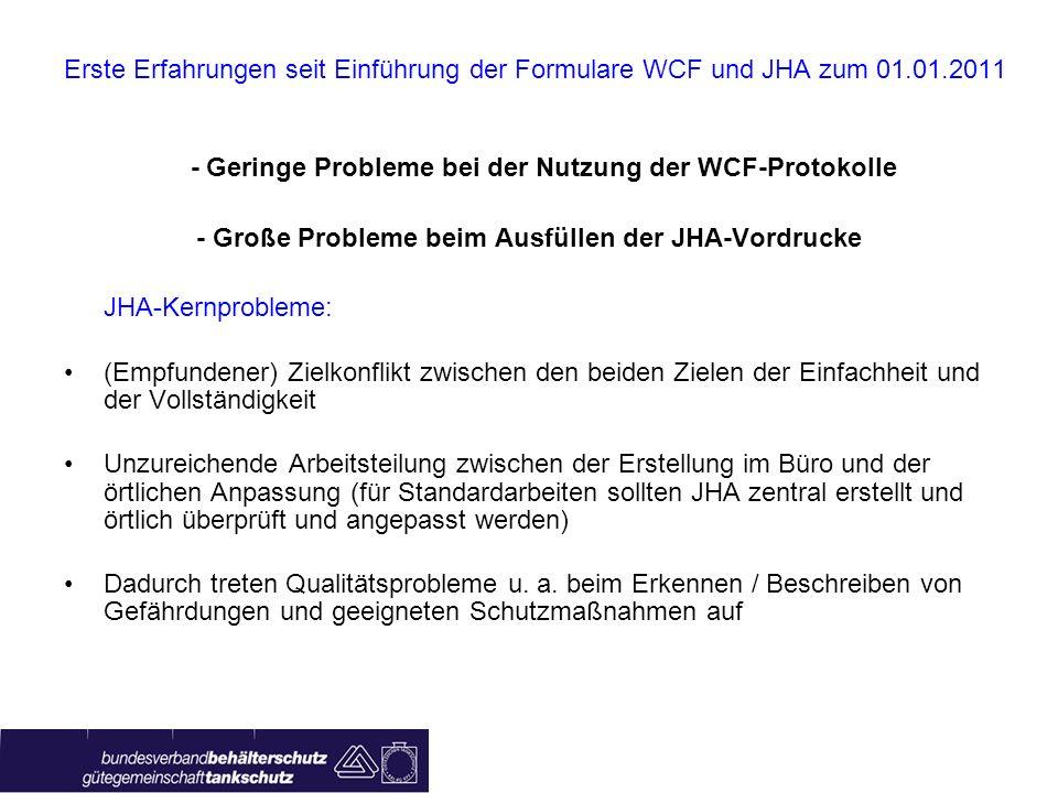 - Geringe Probleme bei der Nutzung der WCF-Protokolle