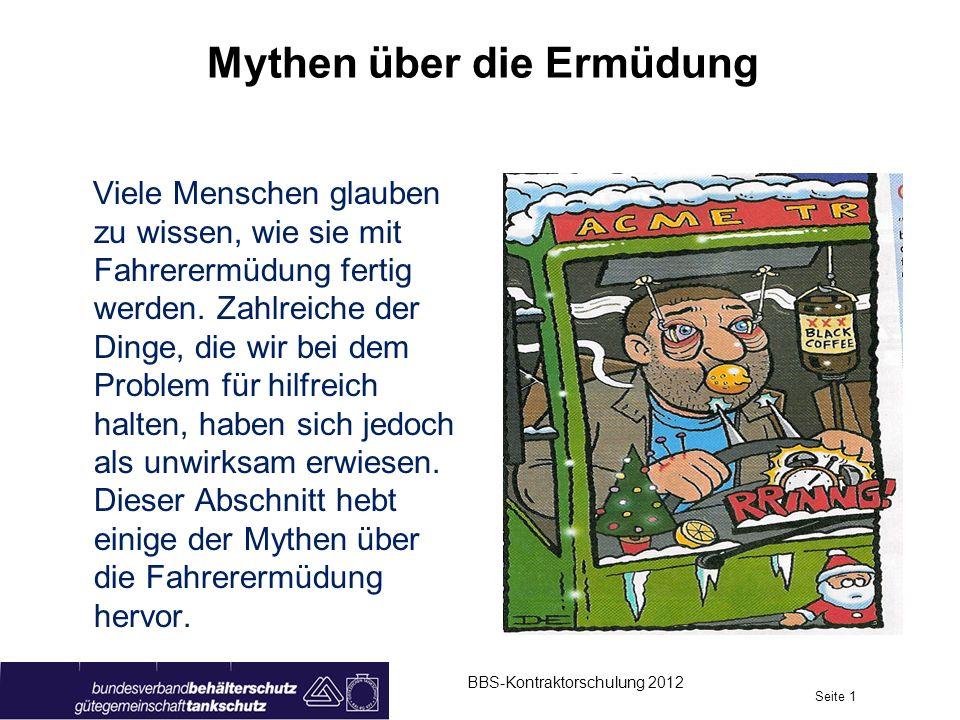 Mythen über die Ermüdung