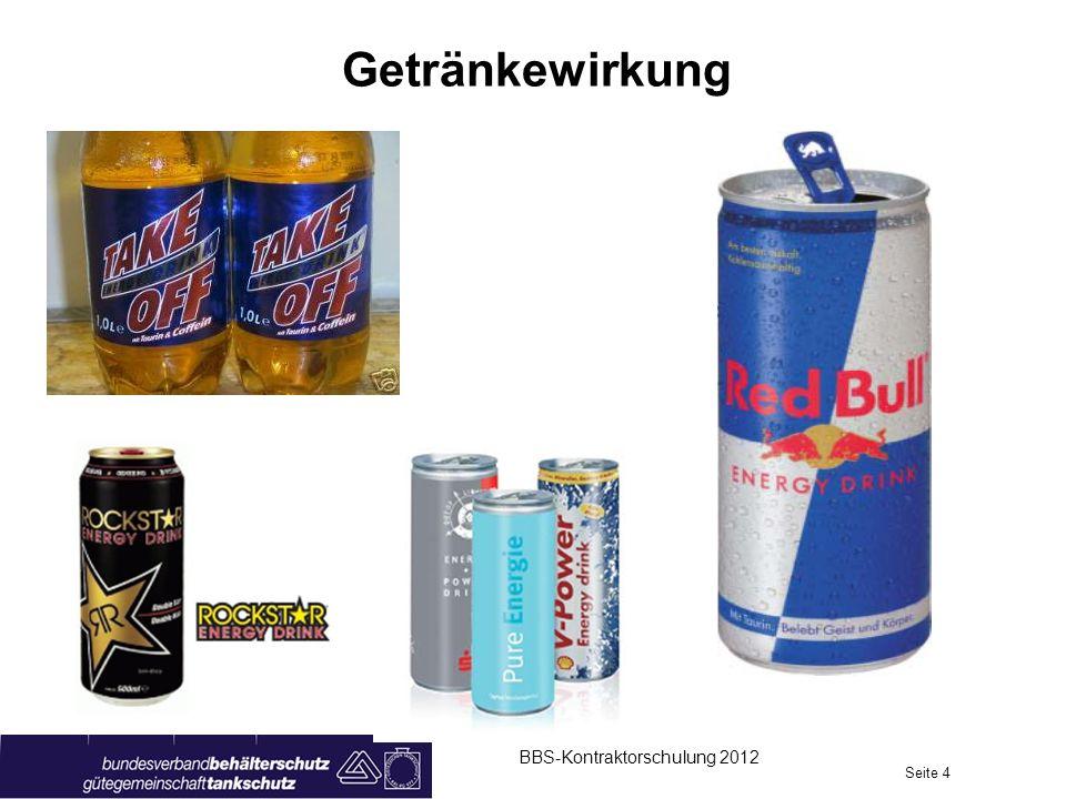 Getränkewirkung Energy Drinks