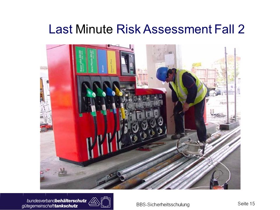 Last Minute Risk Assessment Fall 2