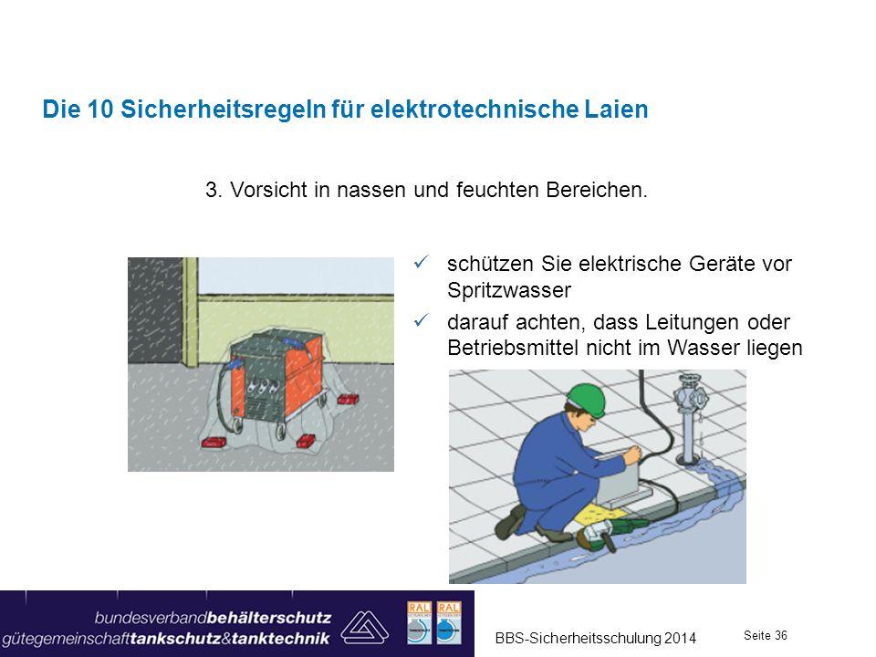Die 10 Sicherheitsregeln für elektrotechnische Laien