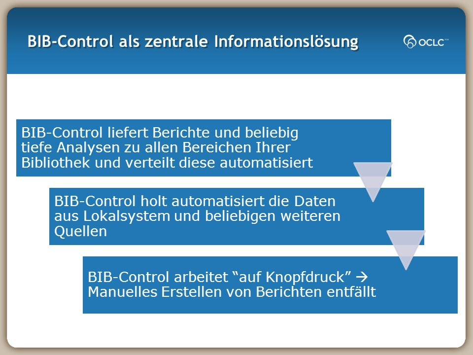 BIB-Control als zentrale Informationslösung