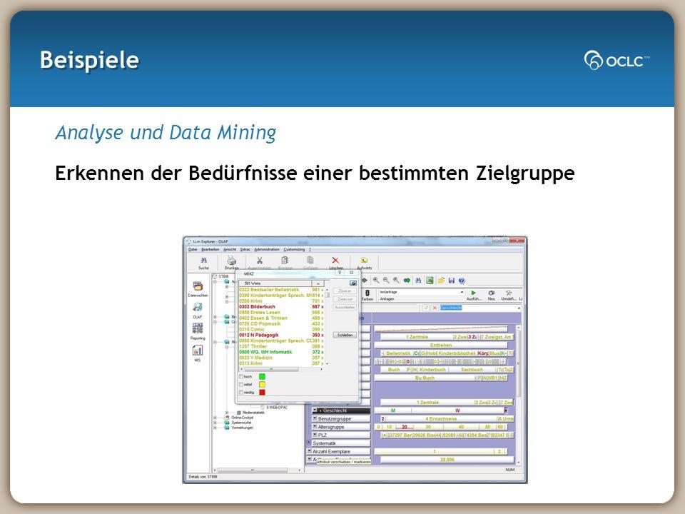 Beispiele Analyse und Data Mining