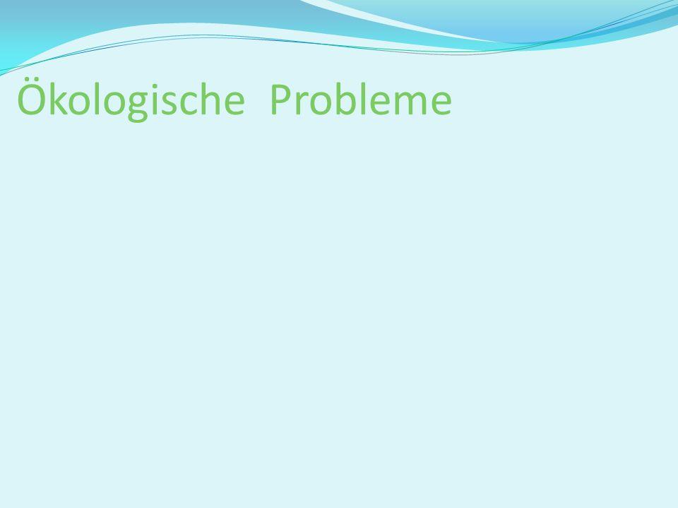 Ökologische Probleme