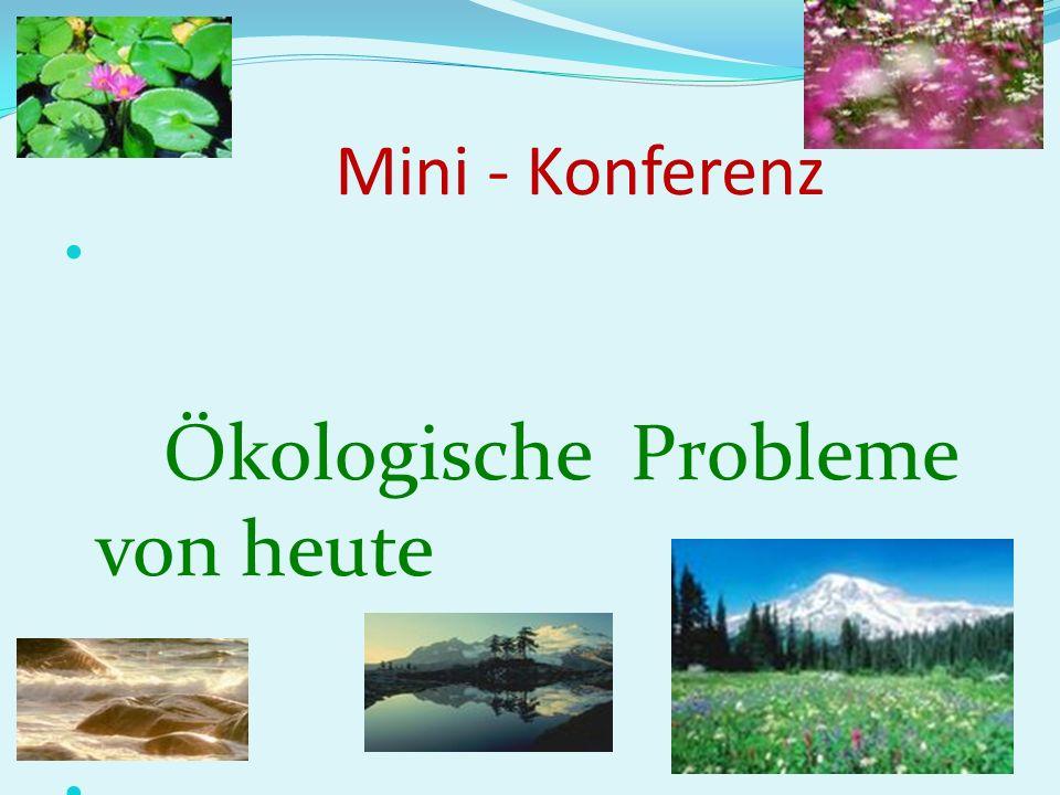 Ökologische Probleme von heute