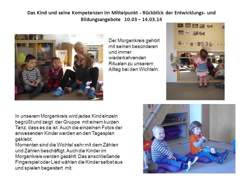 Das Kind und seine Kompetenzen im Mittelpunkt - Rückblick der Entwicklungs- und Bildungsangebote 10.03 – 14.03.14