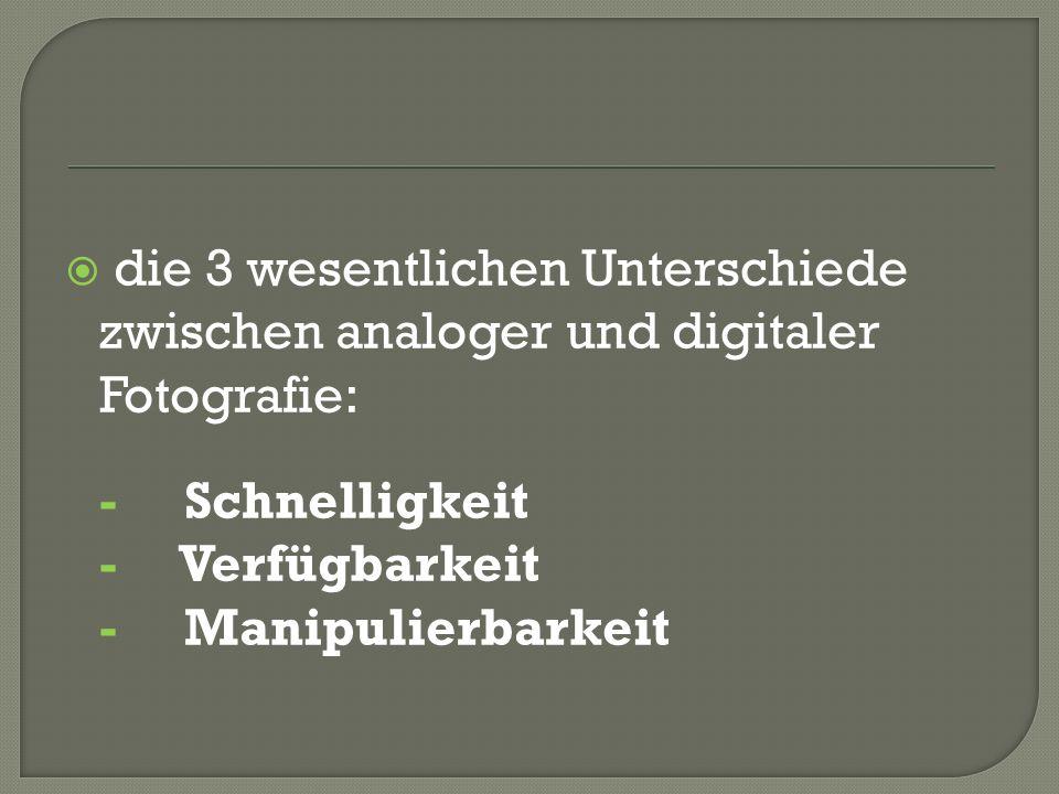die 3 wesentlichen Unterschiede zwischen analoger und digitaler Fotografie: