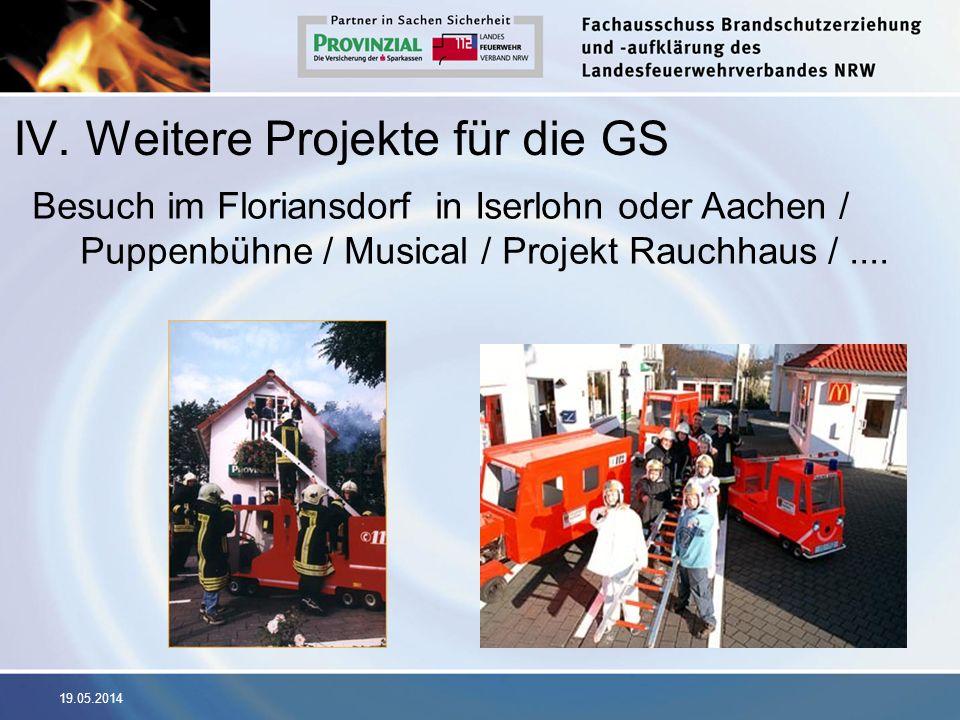 IV. Weitere Projekte für die GS
