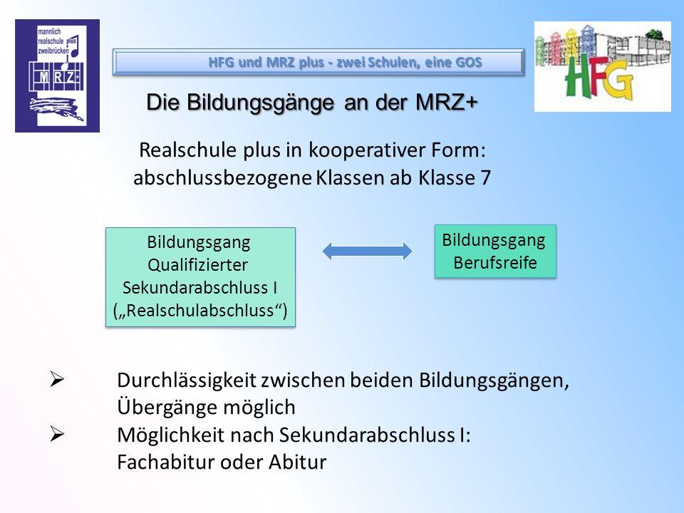 HFG und MRZ plus - zwei Schulen, eine GOS