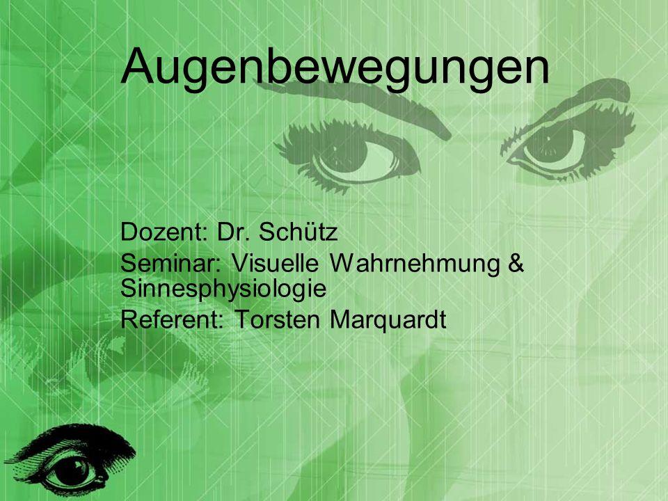 Augenbewegungen Dozent: Dr. Schütz