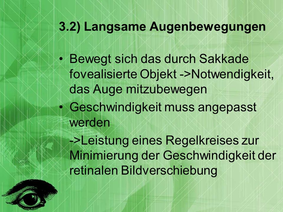 3.2) Langsame Augenbewegungen
