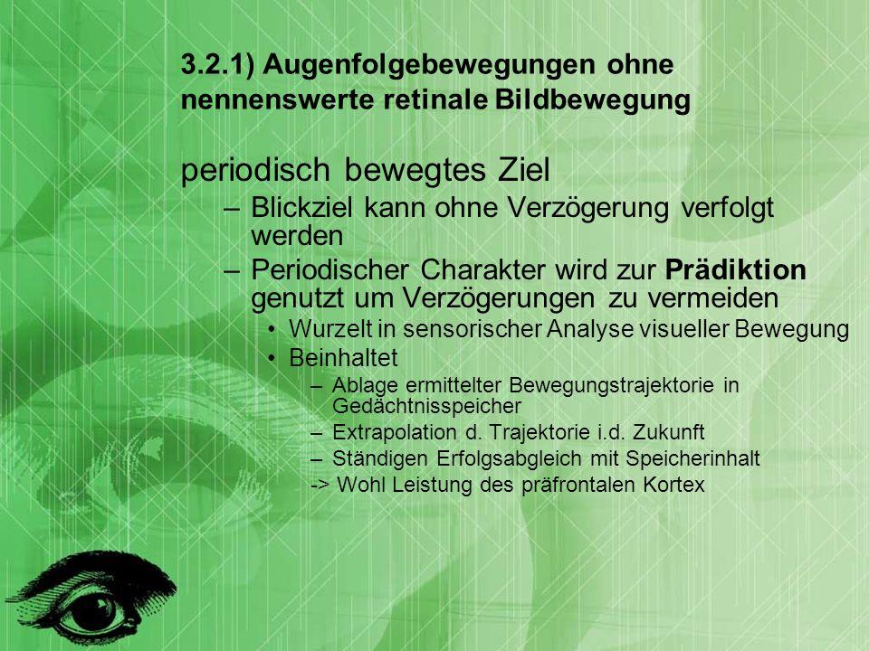3.2.1) Augenfolgebewegungen ohne nennenswerte retinale Bildbewegung