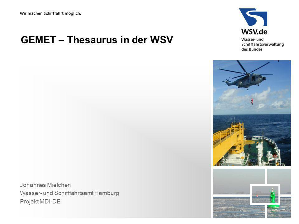 GEMET – Thesaurus in der WSV