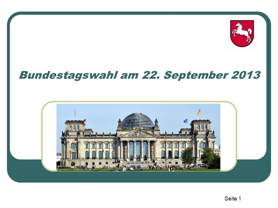 Bundestagswahl am 22. September 2013