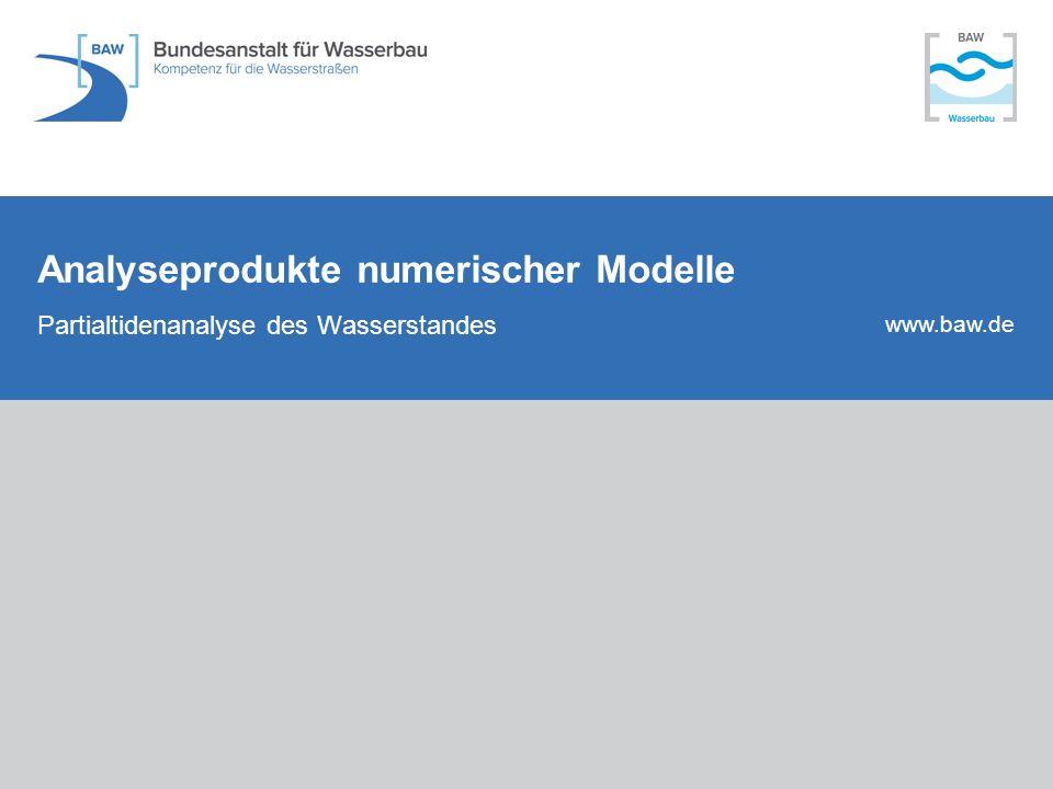 Analyseprodukte numerischer Modelle