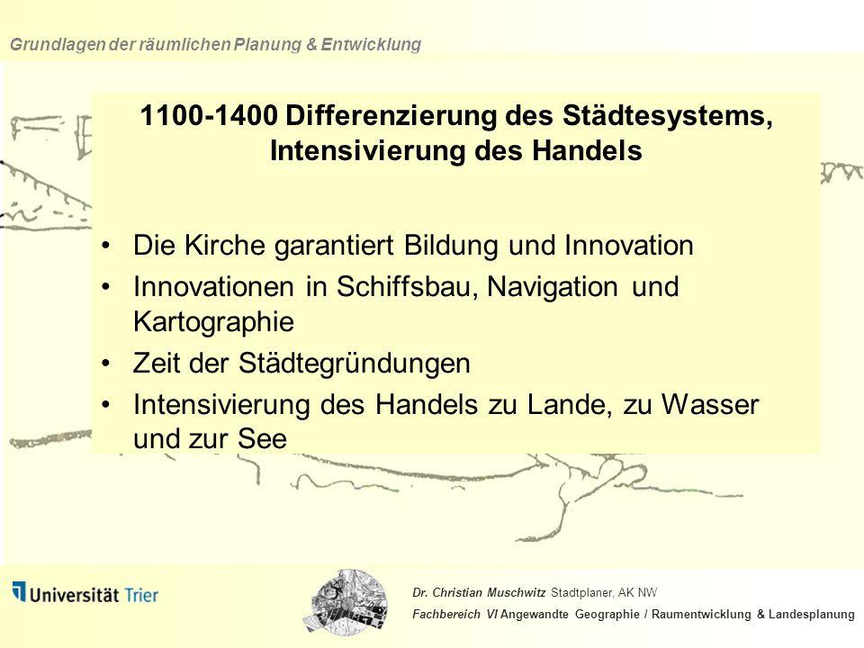 1100-1400 Differenzierung des Städtesystems, Intensivierung des Handels
