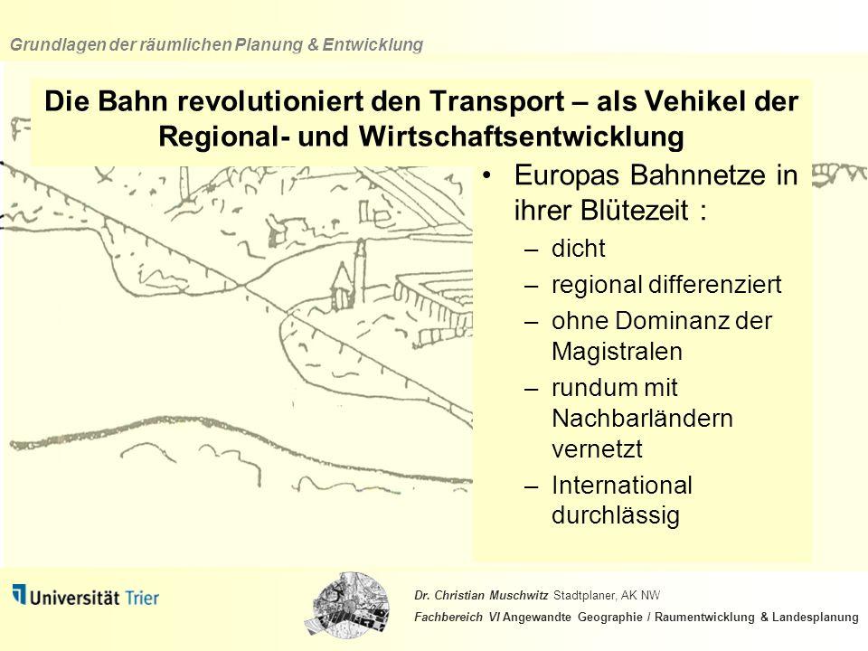 Europas Bahnnetze in ihrer Blütezeit :