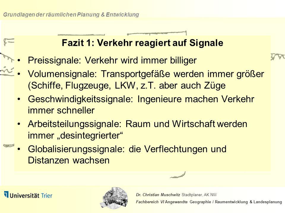 Fazit 1: Verkehr reagiert auf Signale