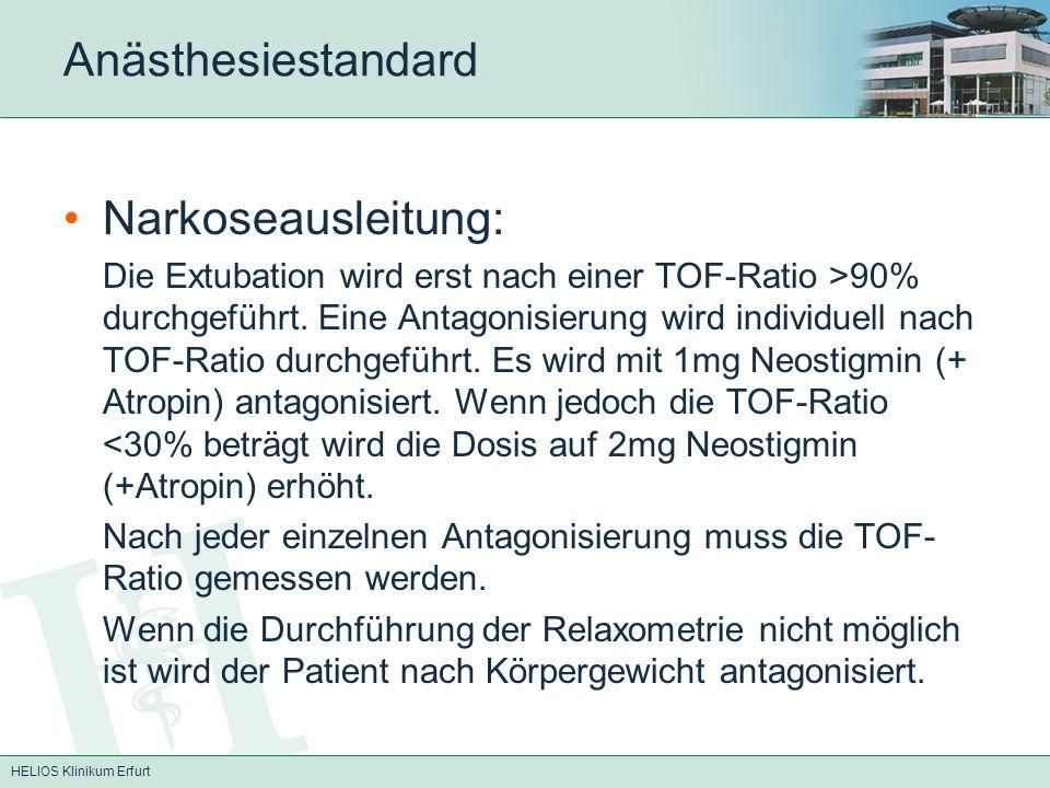 Anästhesiestandard Narkoseausleitung: