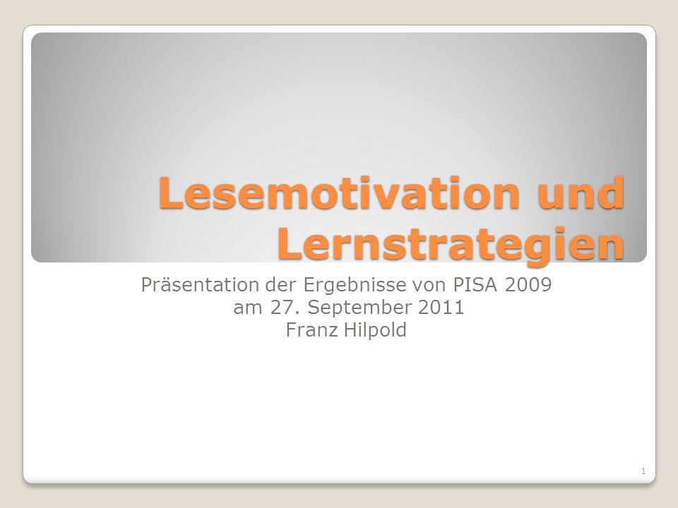 Lesemotivation und Lernstrategien