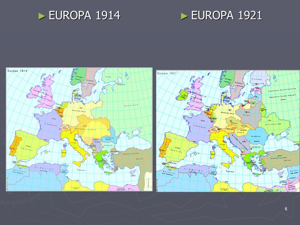 EUROPA 1914 EUROPA 1921