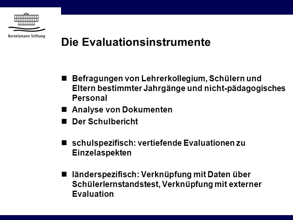 Die Evaluationsinstrumente