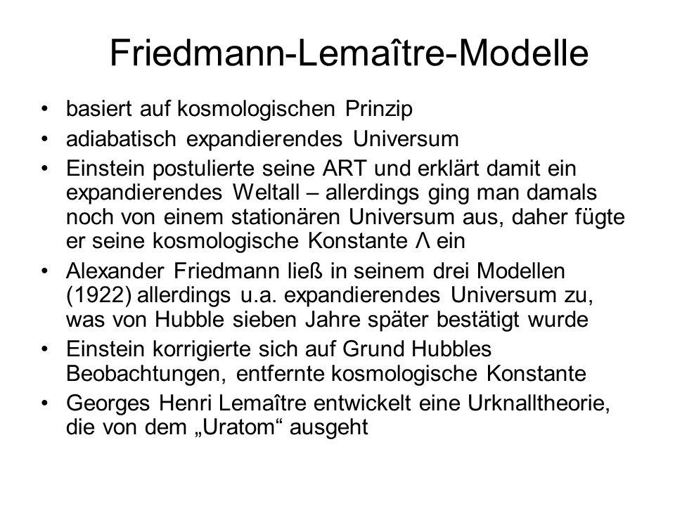 Friedmann-Lemaître-Modelle