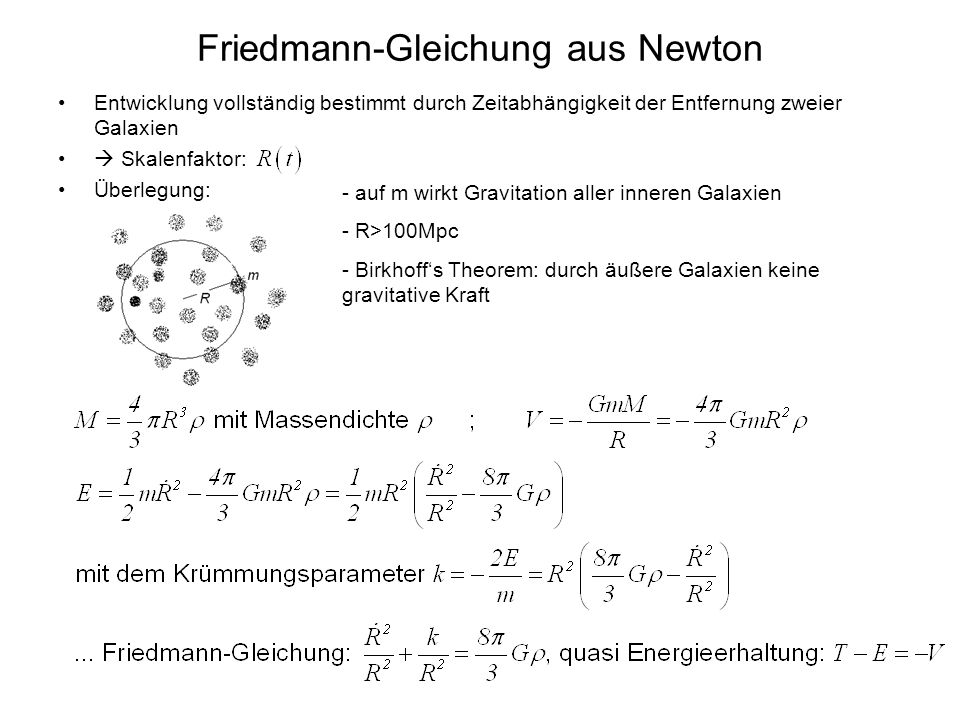 Friedmann-Gleichung aus Newton