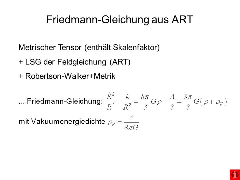 Friedmann-Gleichung aus ART