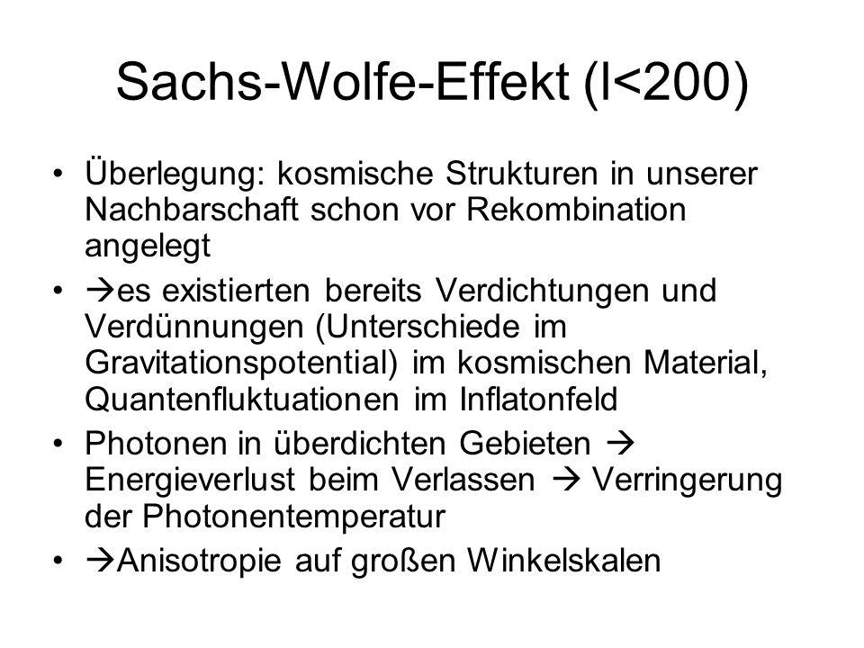 Sachs-Wolfe-Effekt (l<200)