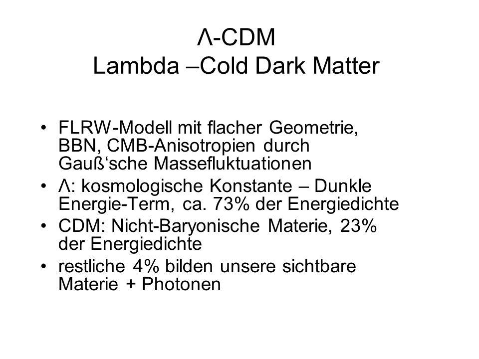 Λ-CDM Lambda –Cold Dark Matter