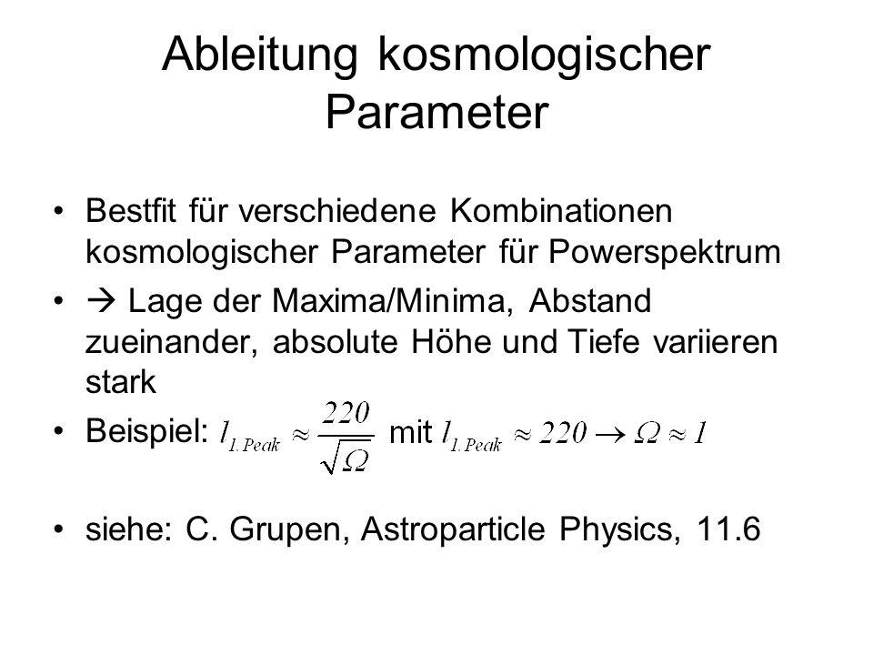 Ableitung kosmologischer Parameter
