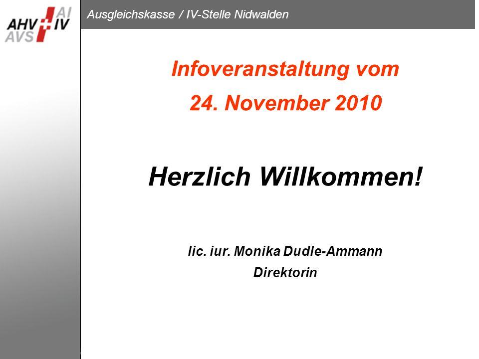 Infoveranstaltung vom 24. November 2010 Herzlich Willkommen. lic. iur