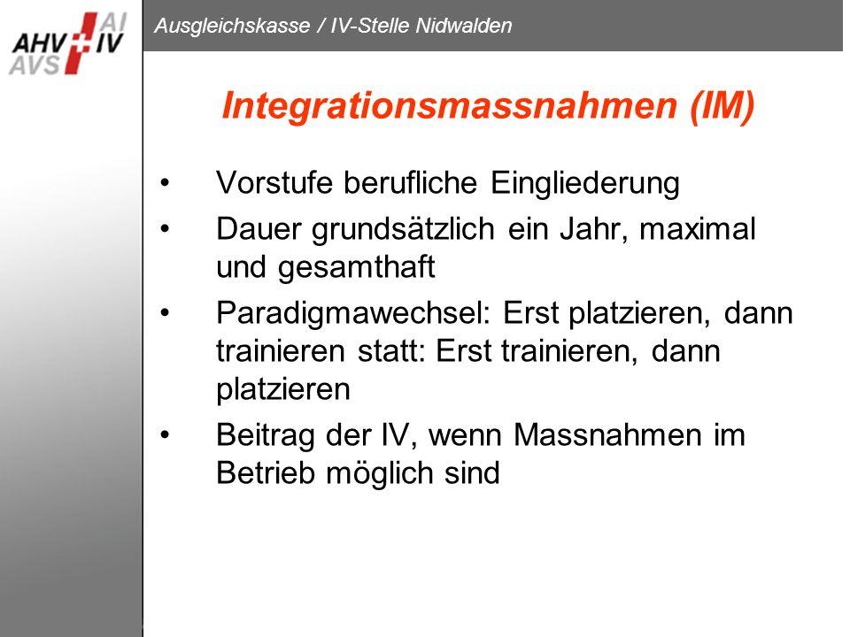 Integrationsmassnahmen (IM)