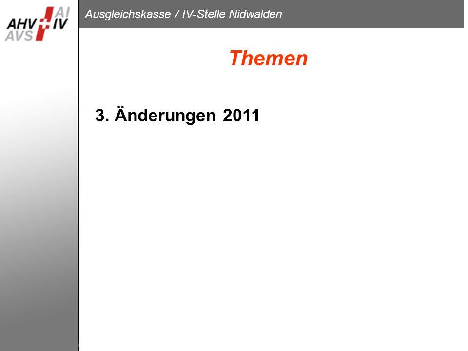 Themen 3. Änderungen 2011