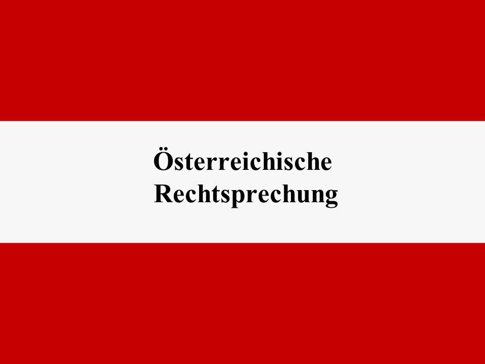 Österreichische Rechtsprechung