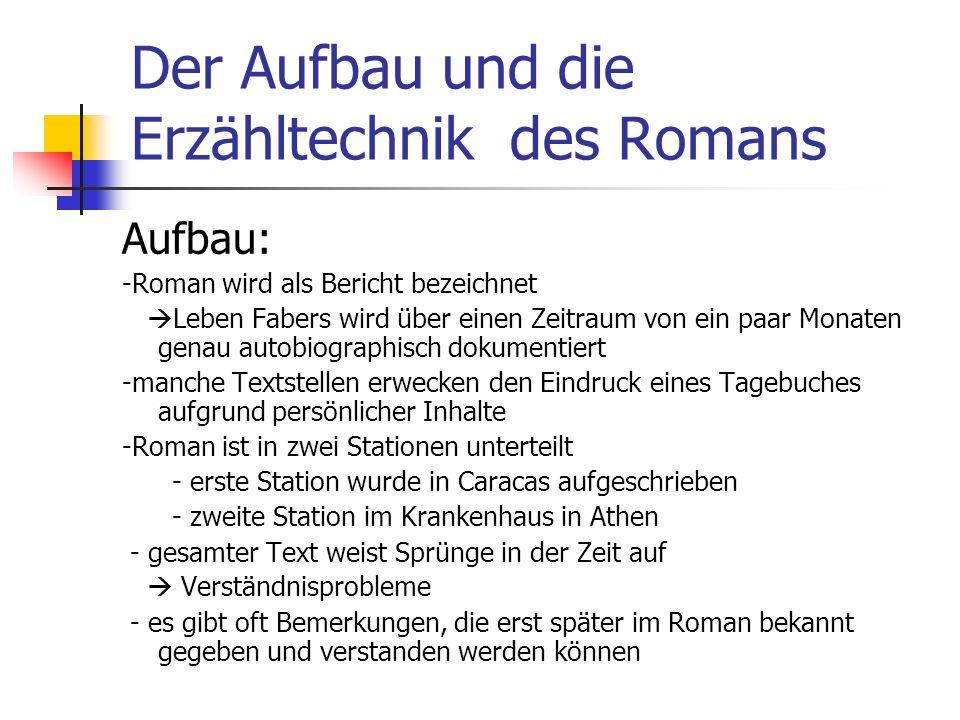 Der Aufbau und die Erzähltechnik des Romans