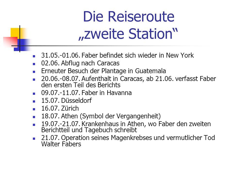 """Die Reiseroute """"zweite Station"""
