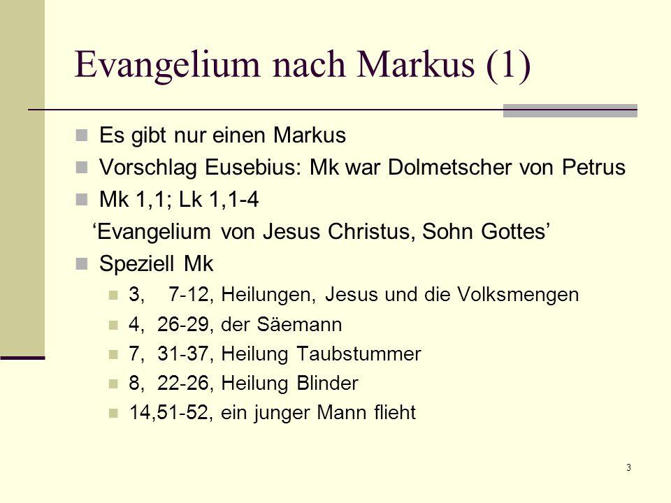 Evangelium nach Markus (1)