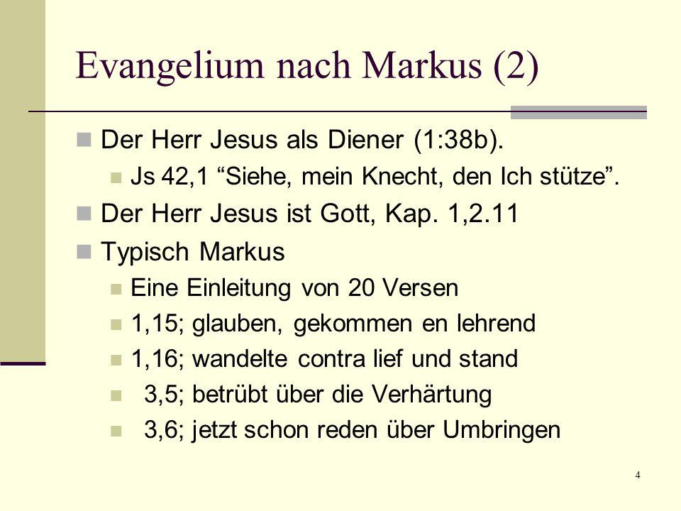 Evangelium nach Markus (2)