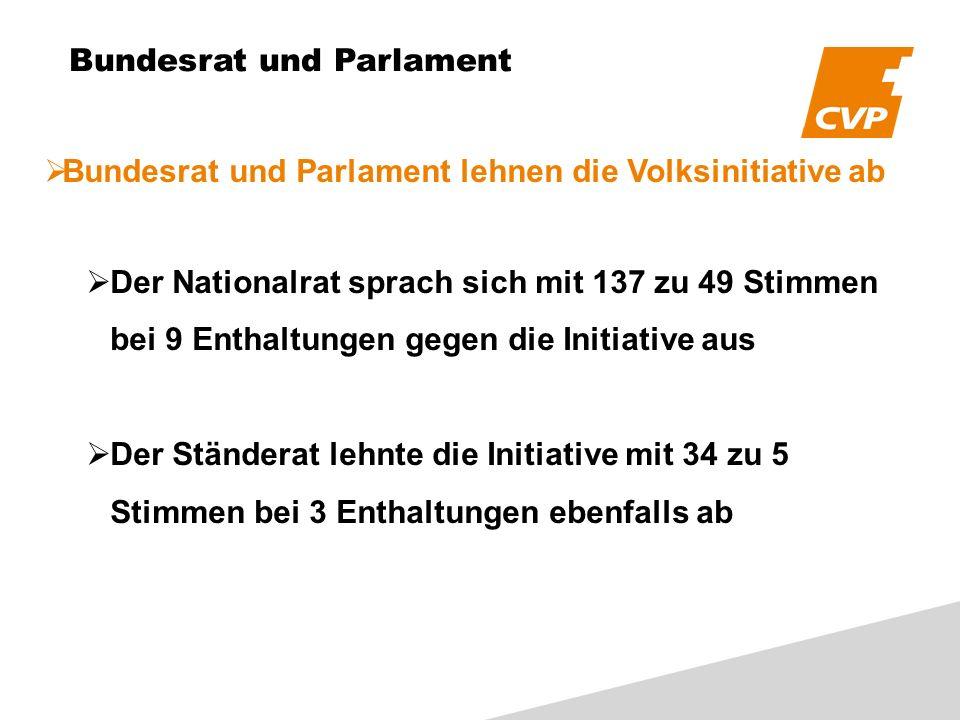 Bundesrat und Parlament