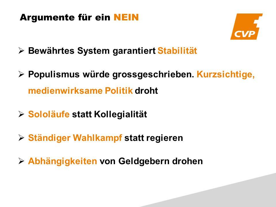 Bewährtes System garantiert Stabilität