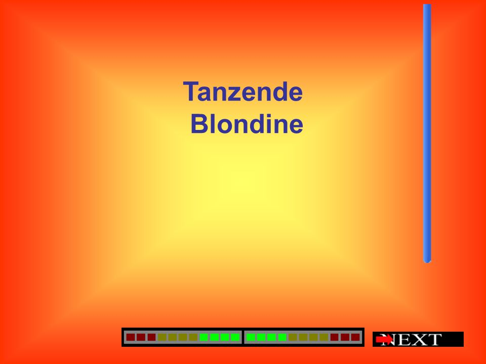 Tanzende Blondine