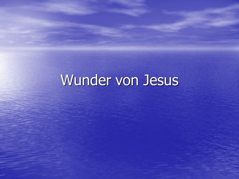 Wunder von Jesus